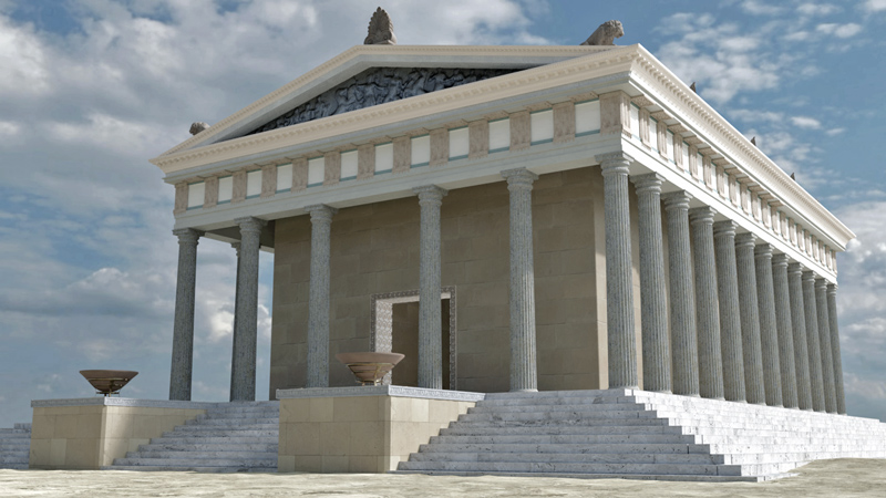 culture lab digital reconstruction temple ammon zeus halkidiki greece 800x450