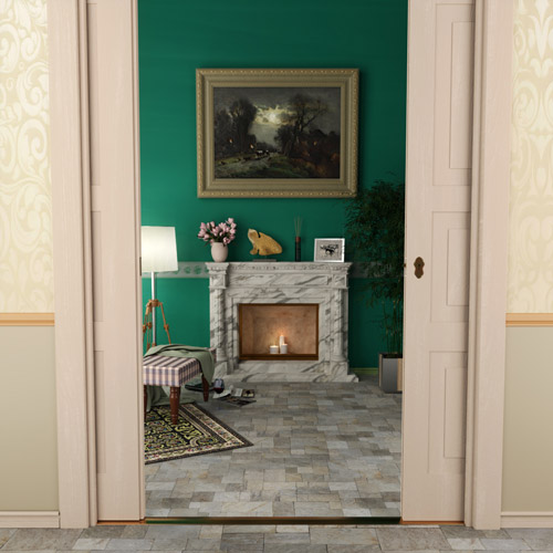culture lab photorealistic 3d graphics interior design living room fireplace floor 03 500x500